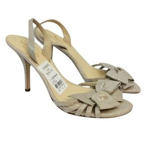 Kate Spade Brown and Silver Bow Detail B Sandals